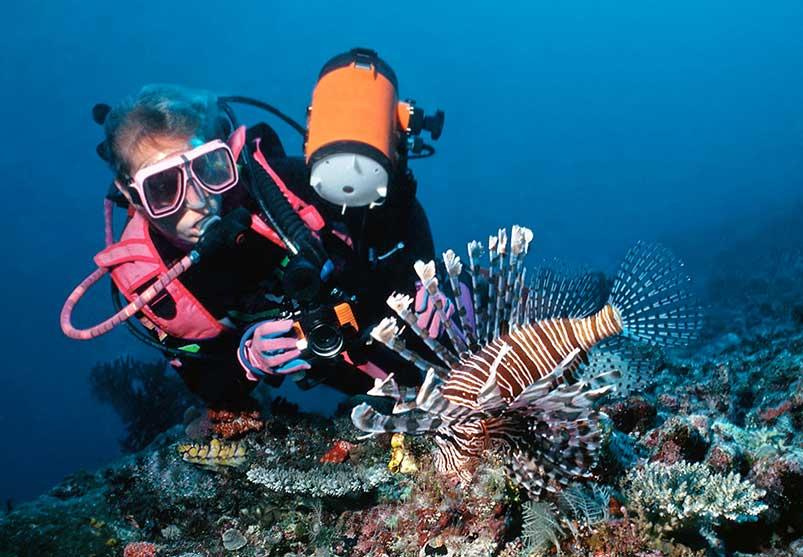 Female Diver after receiving occupational dive medical certification