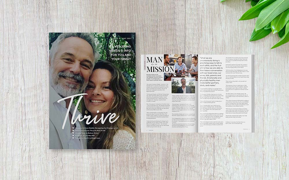 Cover page for Thrive Magazine, Health and Wellbeing E-magazine for Territory Medical Group